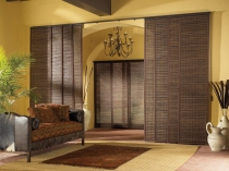 interior-modern-natural-home-interior-decoration-brown-sliding-wall-divider