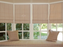 chic-bay-window-design-with-striped-cream-curtains-and-cushions-seat-ideas-for-best-decor-inspiration-as-well-as-custom-shutters-also-blinds-and-shutters