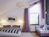 1920x1440-beautiful-girls-attic-bedroom-design-purple-curtain-with-floral