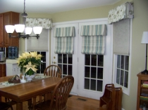 interior-gray-white-stripped-curtain-cover-for-glass-doors-with-white-wooden-frame-on-the-cream-wall-window-coverings-for-sliding-glass-doors