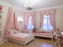 шторы и тектиль для детской в розовом цвете 10