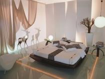 dramatic bedroom lighting