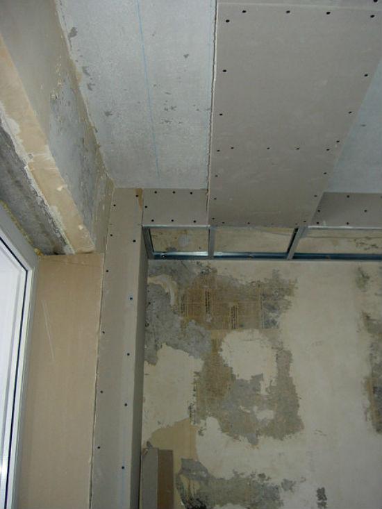 Фото готовой ниши из гипсокартона для устройства скрытого крепления под шторы