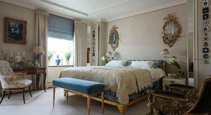 Фото пример, как комбинировать занавески на римском карнизе с традиционными шторами