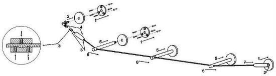 На рисунке изображена схема, по которой нужно крепить струнный карниз