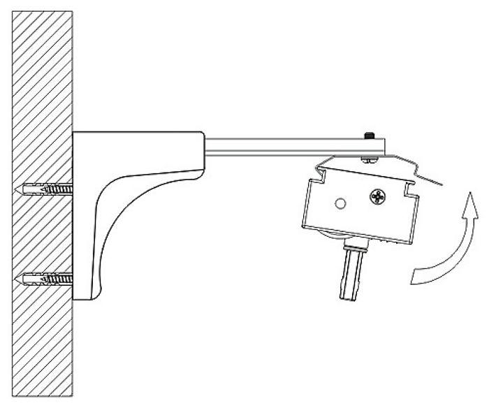 Если при настенном креплении требуется сделай большой отступ, используйте кронштейны с выносом