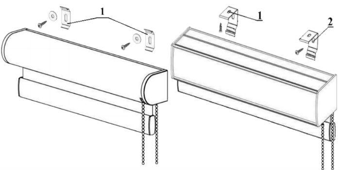 Потолочное и настенное крепление кассеты возможно, чтобы открыть окно, потребуется поднять жалюзи, зато потом можно прикрыть проем, что недоступно для моделей с креплением на створку
