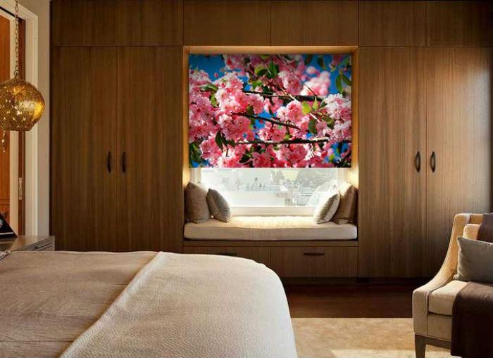 Рулонные шторы с нанесенными на них фото, могут не только украсить помещение, но и заметно оживить его, с их помощью можно внести индивидуальные нотки в атмосферу пространства