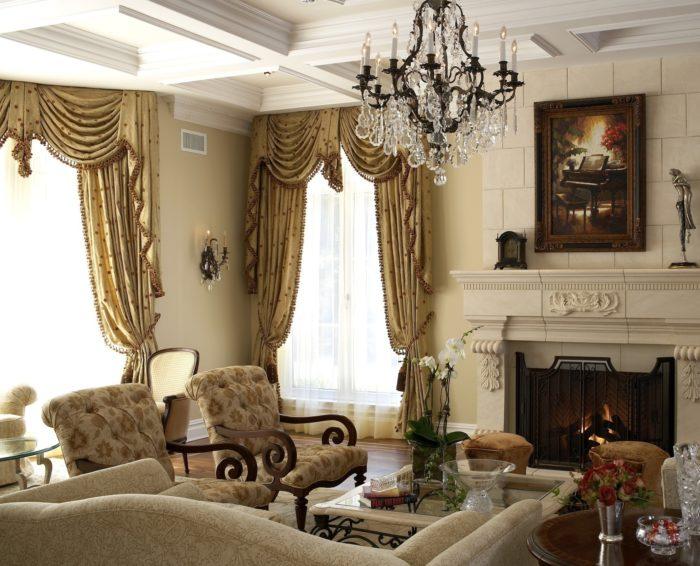 На фото изображен интерьер в стиле барокко