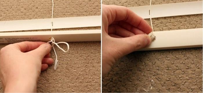 На фото - один из этапов изготовления шторы
