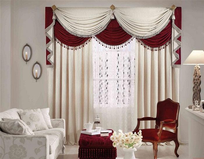 Фото декорированных штор в интерьере