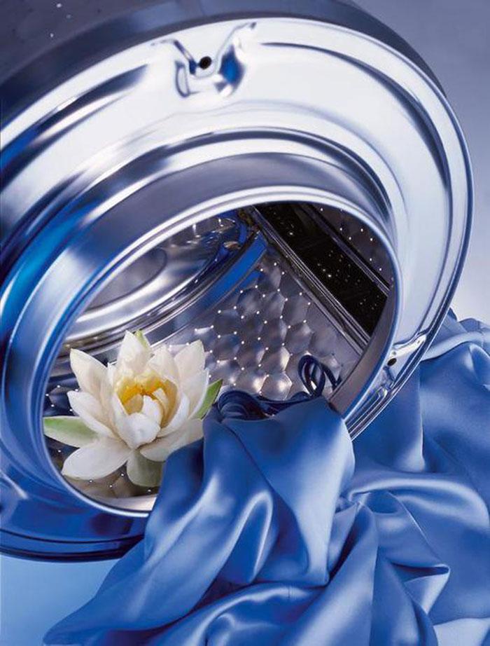 При правильно выставленной температуре, автоматическое удаление загрязнений не испортит вид ваших гардин