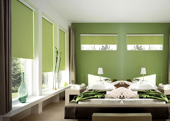 На фото пример декора спальни