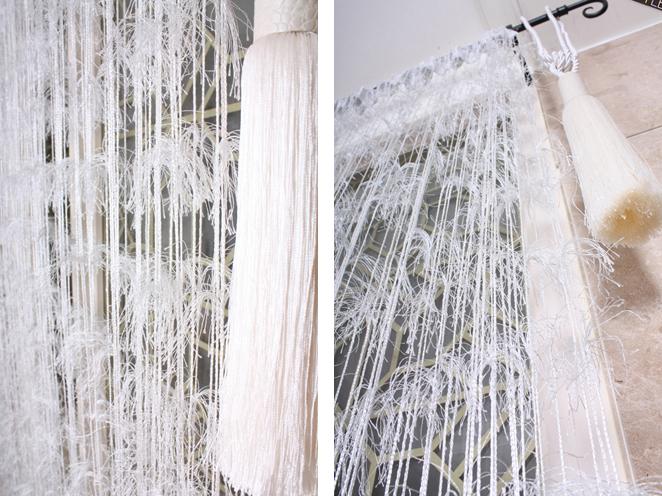 Нитяные изделия с использованием перьев придадут комнате легкости