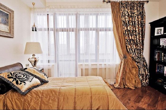 Фото шторы для спальни в стиле эклектика