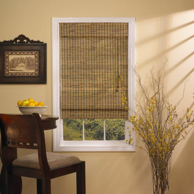 Бамбуковые шторы станут изюминкой в Вашей комнате