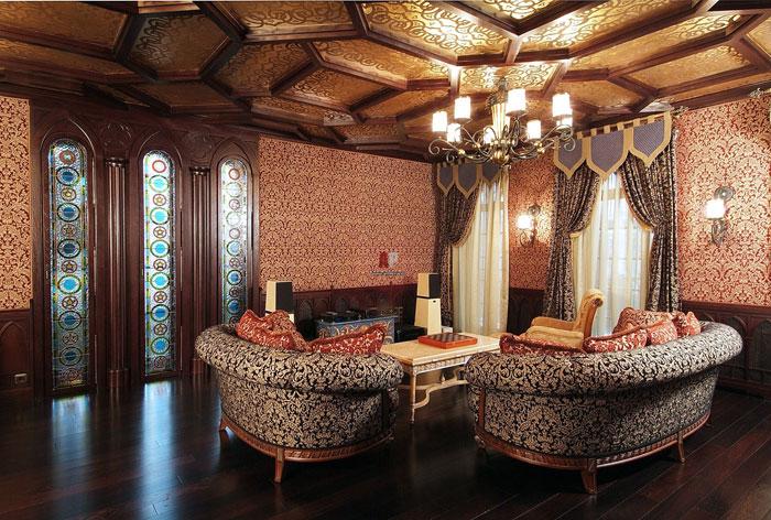 Новинка дизайна шторы для гостиной в восточном стиле
