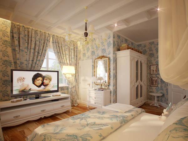 Дизайн интерьера спальня в стиле прованс